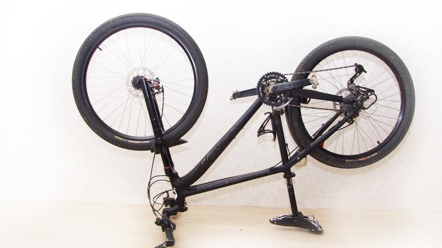 переверните велосипед