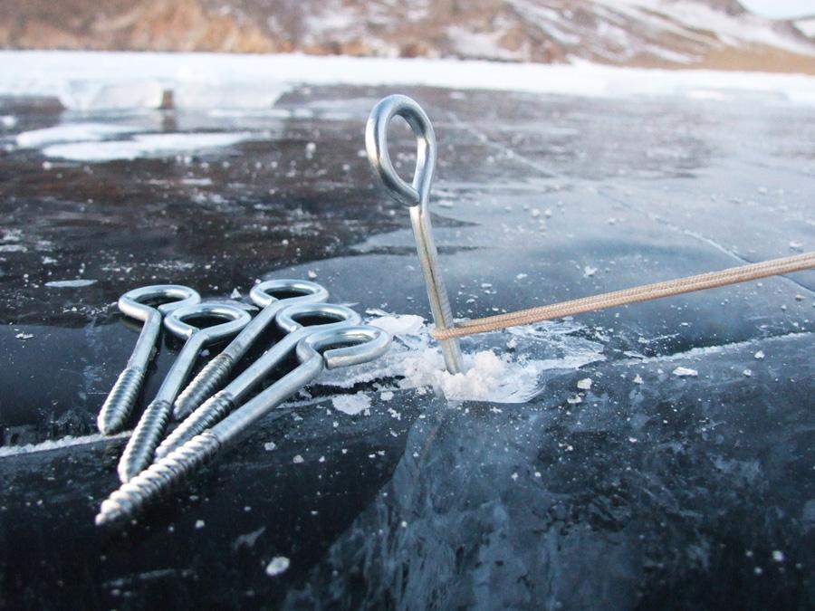 колышки для установки палатки на льду