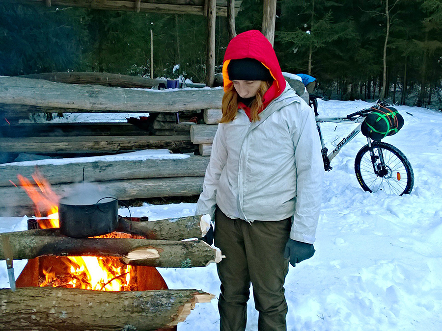 приготовление пищи в походе зимой