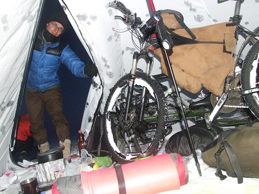 зимнее походное велоснаряжение