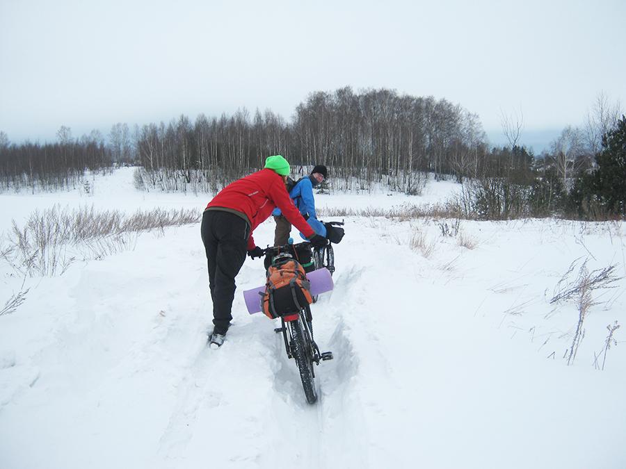 зимний велопоход